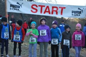 Hannah, Antonia, Lea und Moritz am Start