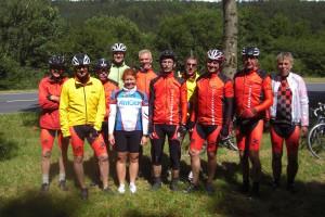 Die Radsportler bei der Thüringer Schleife 2014