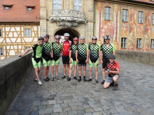 Die Radtruppe in Bamberg